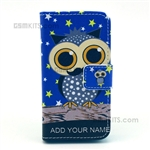 iPhone 4S/4 Wallet Case Design Owl With Words Add You Name
