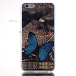 iPhone 6/6S Plus Gel Case Design Blu-Ray Blue Butterfly