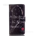 Galaxy A5 (2016) A510F Wallet Case Design My Dear Boy Red Lips