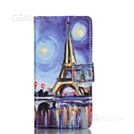 Galaxy A5 (2016) A510F Wallet Case Design Oil Painting Eiffel Tower