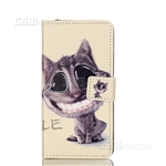 Galaxy A5 (2016) A510F Wallet Case Design Smiling Cat