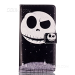 Galaxy Grand Prime G530F/Grand Prime Plus  Wallet Case Design Eyebrow Up Ghost