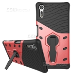 Xperia XZ Hard Case Design Armor With Kickstand Red