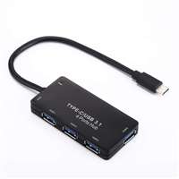Type-C To 4 Port USB 3.0 Hub Black