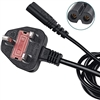 2M C5 UK Power Lead For Laptops Black (Two Round Pin)
