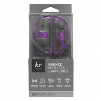 Kitsound KS BOUPU Bounce Bluetooth Wireless Earphone Purple