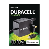 Duracell DMAC11-UK iPhone/iPad Lighting Fast Charger 5V/2.4A Black
