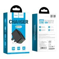 Hoco C70B Cutting-edge single port QC3.0 Charger 5V/3A Black