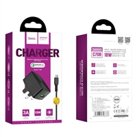 Hoco C70B Cutting-Edge Single Port QC3.0 5V/3A Micro Charger Set Black