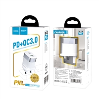 Hoco C58B Prominent PD 18W+QC 3.0 Charger (UK) White