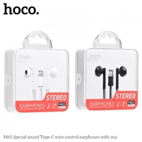 Hoco M65 Special Sound Type-C Wired Earphones With Mic Black