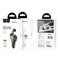 Hoco E47 Traveller Wireless Headset Car Charger Black