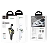 Hoco E47 Traveller Wireless Headset Car Charger White