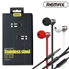 Remax RM-565i Stainless Steel Stereo In-ear Wired Earphone With Mic Red