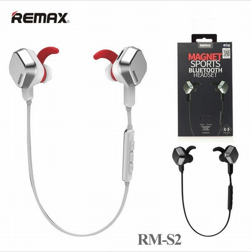 Remax Rb S2 Magnet Sports Bluetooth Headset White