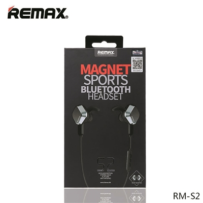Remax RB-S2 Magnet Sports Bluetooth Headset Black