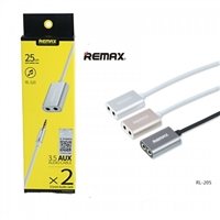 Remax RL-S20 3.5mm Audio Aux Splitter Silver