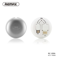 Remax Rc-099t Retractable 2 In 1 Usb Cable Lighting & Micro White