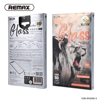 Remax GL-32 9D Tempered Glass For iPhone XS/X Black