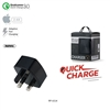 Remax RP-U114 Single USB Fast Charger Black 5V/3A