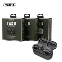 Remax TWS-5 True Wireless Stereo Earbuds For Calls and Music Black