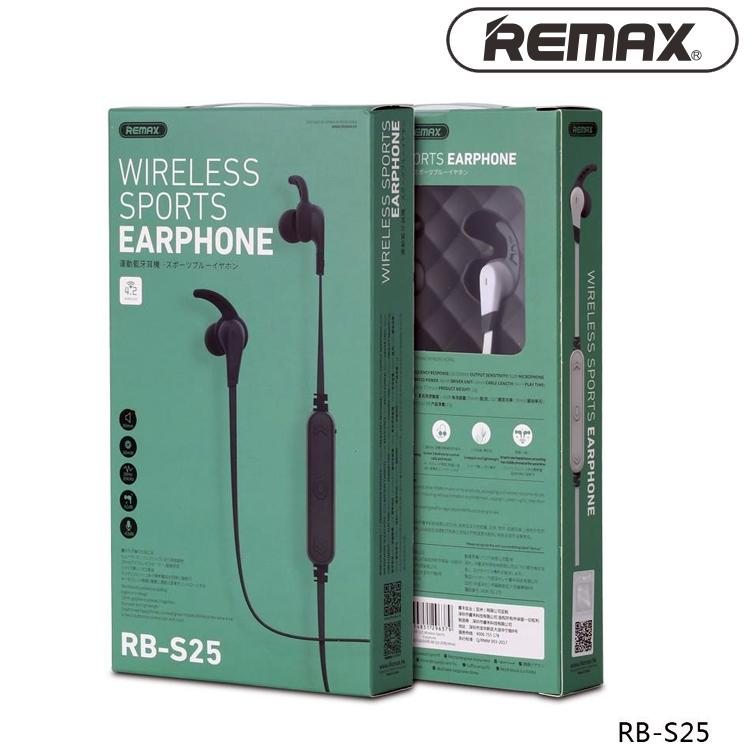 Remax RB-S25 Neckband Bluetooth Wireless Sports Earphones Black