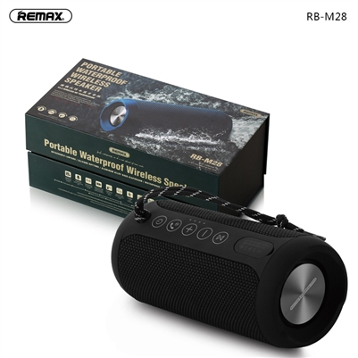 Remax RB-M28 Portable Outdoor Waterproof IPX6 Speaker Black