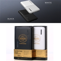 Remax Linon 2 RPP-123 Ultra Thin Dual USB Powerbank 5V/2.1A 5000mAh Black