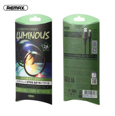 REMAX RC-133i Luminous Sound Activated Lightning Data Cable White