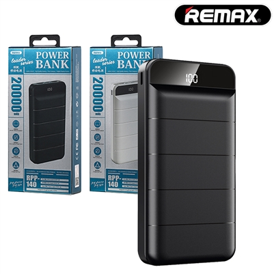 REMAX RPP-140 Dual USB Powerbank 20000mAh 5V-2A Black
