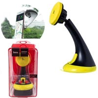 Hoco CA7 Suction and Magnetic Car Holder Black/Yellow