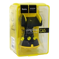 Hoco CA5  360° Suction Car Holder Yellow/Black