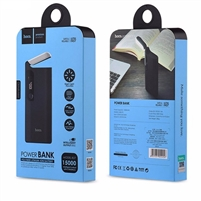 Hoco B27 Dual USB With Lamp PowerBank 5V/2A 15000mAh Black
