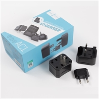 Hoco AC1 Universal Travel Adapter & Converter Socket Black