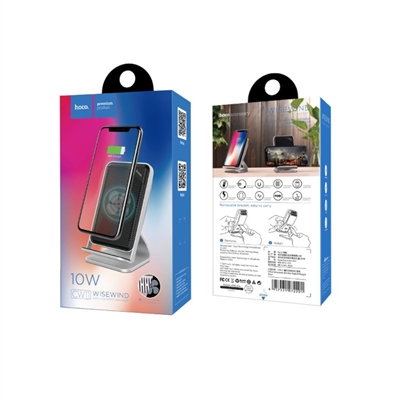 Hoco CW11 Wisewind 10W Wireless Rapid Charger Silver