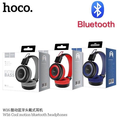 Hoco W16 Cool Motion Bluetooth Headphones Grey