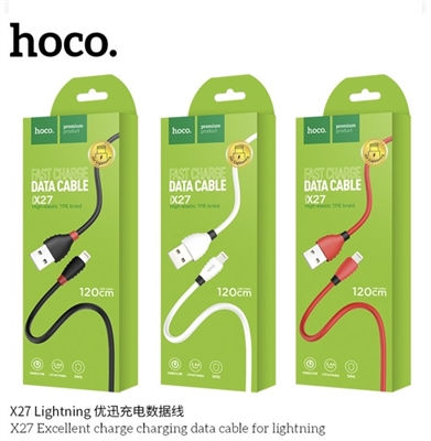 Hoco X27 Excellent Charge Lighting Cable White