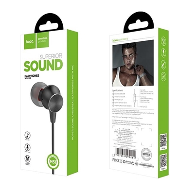 Hoco M51 Proper Sound Universal 3.5mm In-ear Wired Earphones with Mic Black
