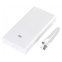 Xiaomi MI Dual USB PowerBank 20000mAh Quick Charge 2nd Generation White