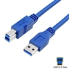 USB 3.0 Cable Type-A Male to Type-B Female 1.5m Printer Cable