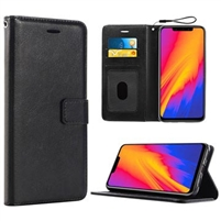 Alcatel U5 HD 5047Y (5'')  Wallet Case Black