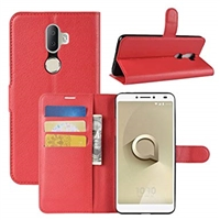 Alcatel 3v Premium Wallet Case Red