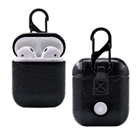 Apple AirPods Leather Protective Case Black