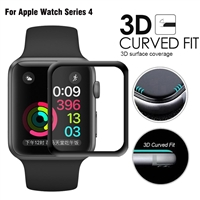 New Generation Apple Watch 44mm 3D Full Glue Tempered Glass Black