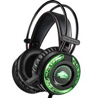 Cross-Border A5 Stereo High Bass Weired Gaming Headphone Black