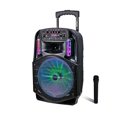 Avcrowns CH-8612 Bluetooth Trolley Speaker 1800W With Mic Black