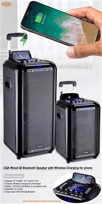 CQA Q-518 8 Inch PMPO – 1000W Bluetooth Trolley Speaker