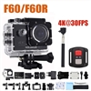 Sports F60B 4K WiFi 170 Degree Wide Angle Action Camera Black