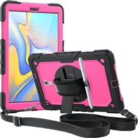 "Galaxy Tab S6 Lite 10.4"" (2020) (P610/P615) Defender Case With Holder 360 Rotaion Rose"