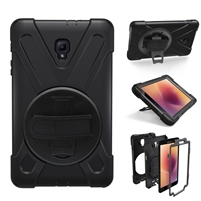 "Galaxy Tab A 10.1"" (2019) (T510/T515) Survivor Case With Hand Strap Black"